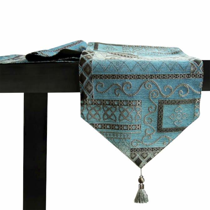 caminodemesa corredor de mesa de color turquesa