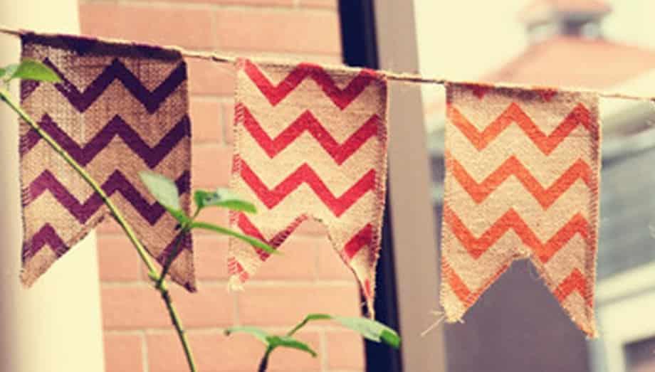 banderines arpillera